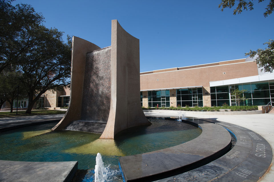 View of the Freedom Fountain.