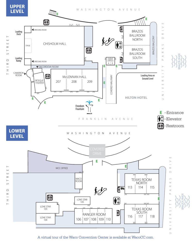 Floor Plans Waco Convention Center - Blank floor plan